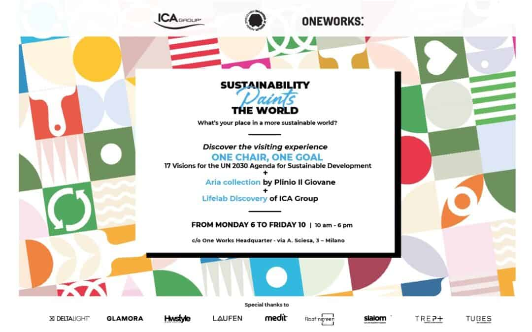 """Milano Design Week 2021 – Medit per """"Sustainability Paints the World"""" di One Works"""